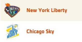 NY Liberty Chicago Sky WNBA