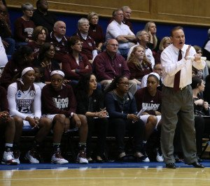Vic Schaefer was the SEC co-coach of the year last season. Photo by Andy Mead.