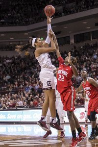 Forward A'ja Wilson was the Gamecocks' second-leading scorer last year, as a freshman. Photo courtesy of South Carolina Athletics.