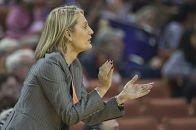 Texas coach Karen Aston. Photo by Patrick Meredith, Texas Athletics.