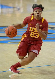 USC senior Brianna Barrett at last month's match up with rival UCLA. Photo courtesy of USC Athletics.