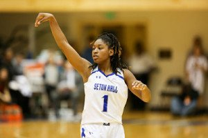 Tabatha Richardson-Smith leads Seton Hall this season with an average 19.2 points and and 7 rebounds per game. Photo courtesy of Seton Hall Athletics.