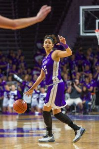 Alexis Mason sets up the play for Abilene Christian. Photo by David Mayes.