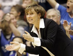 Gail Goestenkors has had a long and storied basketball coach career. Photo by Gerry Broome, courtesy of Indiana Fever.