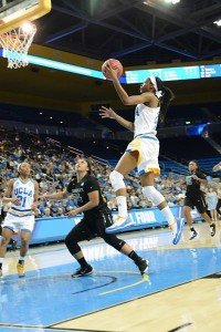 Kennedy Burke takes flight for UCLA. Photo by Nicc Jackson.