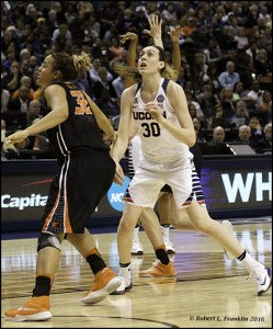Breanna Stewart looks for the rebound. Photo by Robert L. Franklin.