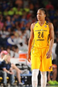 Tamika Catchings scored 26 points in Wednesday's game, the day after longtime Tennessee coach Pat Summitt died. Catchings said she was inspired in the game by her former coach. Photo by Randy Belice/NBAE via Getty Images.