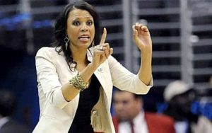 With a recent hire, LSU coach Nikki Fargas now has an all-woman coaching staff. Photo from latimes.,com.