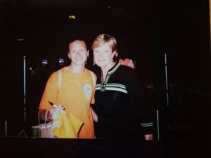 Sue Favor and Pat Summitt. Photo by Sue Favor.