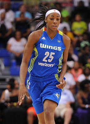 Glory Johnson had 23 points and a season league-high 22 rebounds against the Mercury Tuesday. It was just the 15th 20-20 game in WNBA history. Photo by NBAE/Getty Images, courtesy of the WNBA.