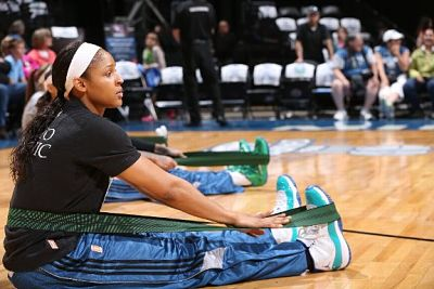 Maya Moore wearing her Jordan Brand Air XI shoes. Photo courtesy of nicekicks.com.