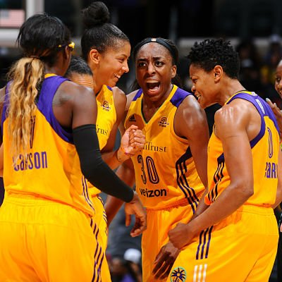 The Sparks are off to a franchise-best 16-1 season start. Photo by NBAE/Getty Images, courtesy of the Los Angeles Sparks.