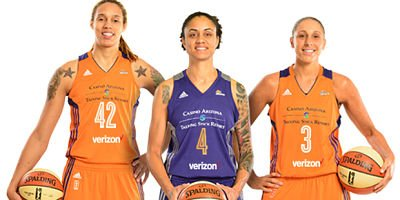 Brittney Griner, Candice Dupree, Diana Taurasi and the Mercury are 2-0 since returning from the Olympic break Friday. Photo courtesy of Phoenix Mercury.