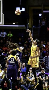 Candace Parker deposits a shot. Photo by Mark Hammond.