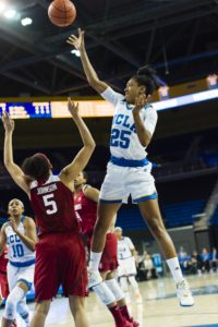 Monique Billings was a force in scoring and on the boards last year, averaging 12.7 points and 8.1 rebounds per game. Photo courtesy of UCLA Athletics.