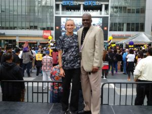 Sue Favor and LT Willis at the Los Angeles Sparks 2016 WNBA Championship celebration on Oct. 24, 2016.