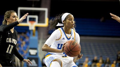 Jordin Canada had 19 points, 10 rebounds and 9 assists. She posted a triple-double in Friday's game. Photo courtesy of UCLA Athletics.