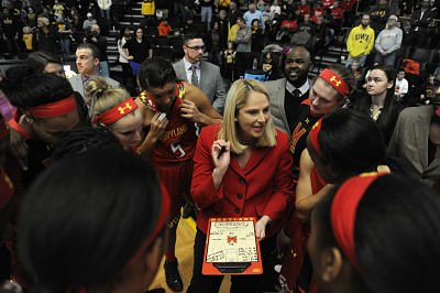 Brenda Frese, who enters her 15th season as head coach at Maryland, has had a storied career there. Photo courtesy of Maryland Athletics.