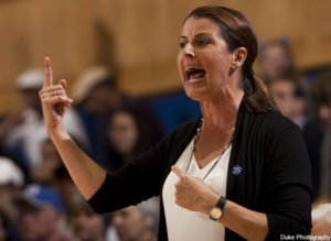 Duke is trying to improve every day, says tenth-year coach Joanne P. McCallie. Photo by Duke Photography.