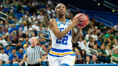 Kennedy Burke was one of three Bruins in double figures against Utah Friday night. Photo courtesy of UCLA Athletics.