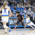 UCLA-USC part II was extremely physical.  Photo by Benita West, TGTVSports1.