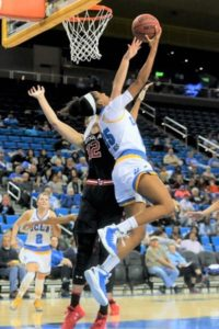 Monique Billings powers up a reverse layup. Photo by Marvin Jimenez/TG SportsTV1.