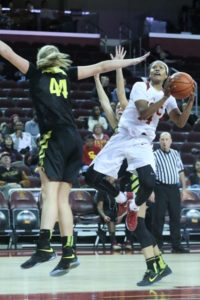 Sadie Edwards spins to take the shot. Photo by Marvin Jimenez.