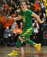 Oregon freshman Sabrina Ionescu notched her fourth triple-double of the season Friday against UCLA. Photo courtesy of Oregon Athletics.