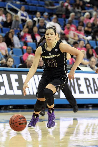 Kelsey Plum put up 39 points in the Huskies' loss to UCLA. She is three points shy of taking over the second spot on the NCAA Division I all-time scoring list. Ken Brooks/T.G.Sportstv1.