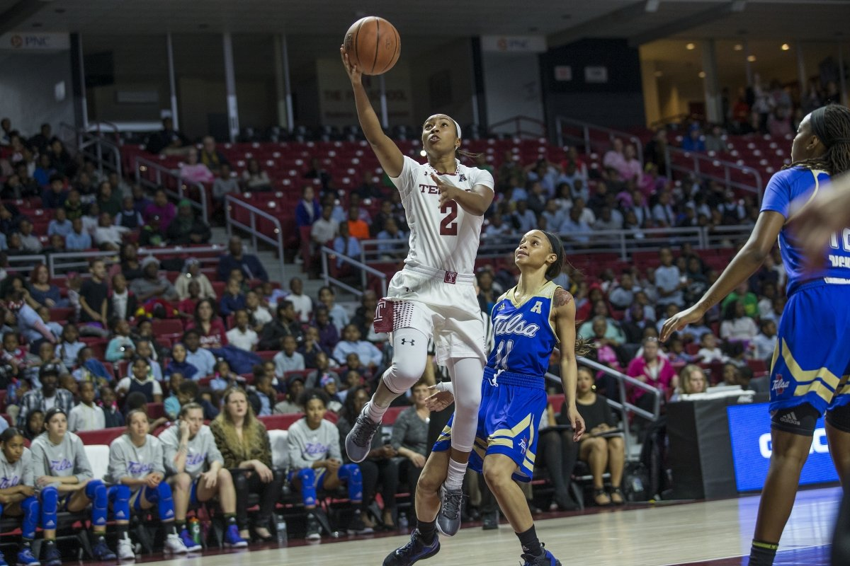 Feyonda Fitzgerald scored a conference record 30 points in Saturdays game. Photo courtesy of Temple Athletics.