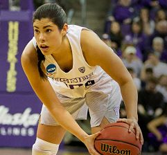 Kelsey Plum set an NCAA single-season scoring record Monday night. She now has 1,080 points. Photo courtesy of Washington Athletics.
