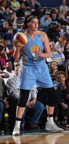 Stefanie Dolson has transitioned seamlessly to the Chicago Sky this season. Photo by Gary Dineen/NBAE via Getty Images.