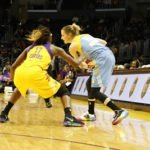 Allie Quigley is defended by Essence Carson. Photo by Maria Noble, WomensHoopsWorld.