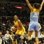 Nneka Ogwumike lines up her shot. Photo by Maria Noble, WomensHoopsWorld.