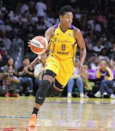 Alana Beard runs the fast break. Photo by NBAE via Getty Images.