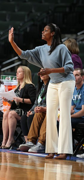 First-year head coach Amber Stocks is preaching patience with the rebuilt Sky. Photo by David Sherman/NBAE via Getty Images)
