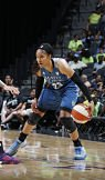 Maya Moore broke out of a scoring slump to score 23 against the Wings. Photo by Chris Covatta/NBAE via Getty Images.