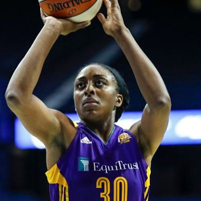 Nneka Ogwumike has scored 20 or more points nine times this season, including Tuesday against the Sun. Photo by NBAE via Getty Images.