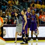 Diana Taurasi reacts to being assessed a technical foul. Photo by Maria Noble/WomensHoopsWorld.