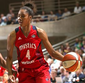 Tayler Hill scored 17 points for the Mystics against Dallas Tuesday. Photo by David Sherman, NBAE via Getty Images.