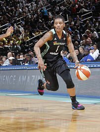 Shavonte Zellous paced the Liberty against the Wings Friday, with 28 points. Photo by NBAE via Getty Images.