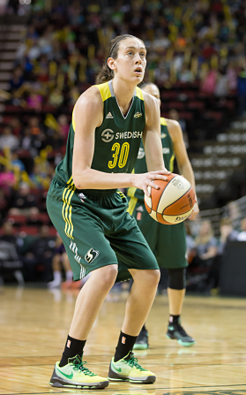 Breanna Stewart put up 22 points to lead Seattle past the Stars. Photo courtesy of Storm Basketball.