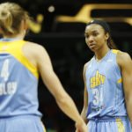 Allie Quigley and Imani Boyette. Photo by Maria Noble/WomensHoopsWorld.