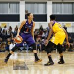 Alana Beard defends Diana Taurasi. Photo by Maria Noble/WomensHoopsWorld.