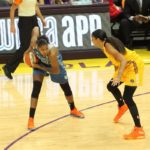 Candace Parker defends Rebekkah Brunson. Photo by Benita West/TGSportsTV1.