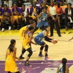 Maya Moore is double-teamed. Photo by Benita West/TGSportsTV1.