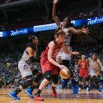 Sylvia Fowles guards Emma Meesseman. Photo by Brian Few Jr./TGSportsTV1.
