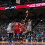Maya Moore shoots from long-range. Photo by Brian Few Jr./TGSportsTV1.