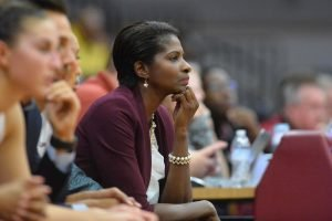Charlotte Smith enters her seventh season as Elon's head coach in 2017-2018. Photo courtesy of Elon Athletics.
