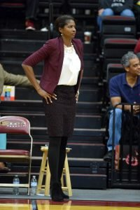 "Charlotte Smith felt ""at peace"" after interviewing for the Elon head coach job. Photo courtesy of Elon Athletics."